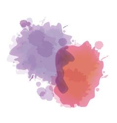 Splash watercolor texture design vector