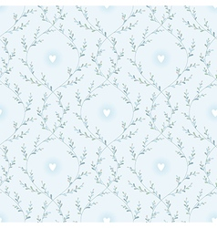 spring pattern blue vector image