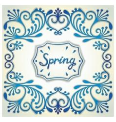 Spring vintage card vector