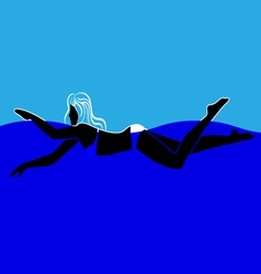 Swimming Woman vector