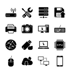 technology and hardware vector image