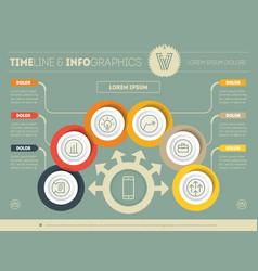 Template a infochart diagram or presentation vector