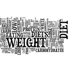 The low down on diet comparison text background vector
