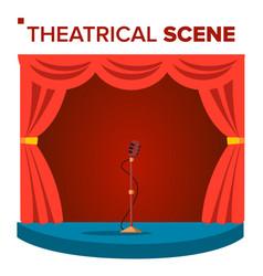 theatrical scene performane stage podium vector image