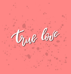 true love - inspirational valentines day romantic vector image
