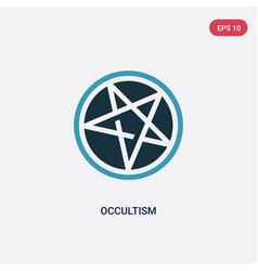 Two color occultism icon from religion concept vector