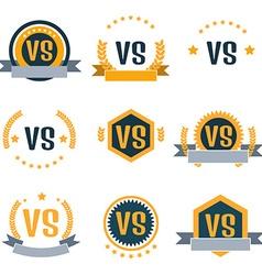 Versus logos set vector