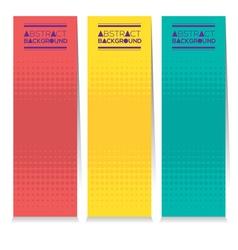 Vertical Banner Set Of Three Modern Graphic Theme vector