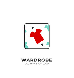 Wardrobe custom selection pick red clothing vector