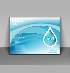water drop template vector image