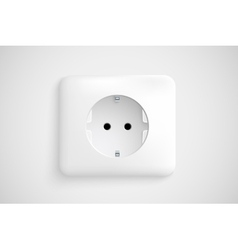 White socket with ground vector