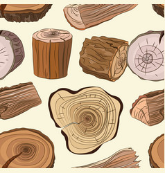 wood stumps set pattern vector image