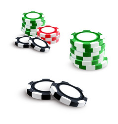 casino and poker gambling chips vector image vector image