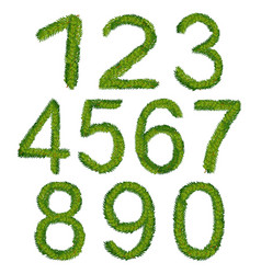 christmas numbers vector image