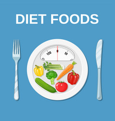 diet food dieting and nutrition vector image vector image