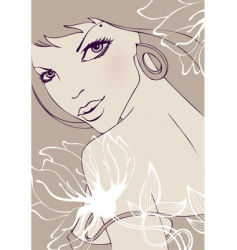 fashion lady vector image vector image
