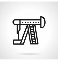 Line icon for oil pump vector