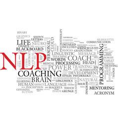 nlp word cloud concept vector image