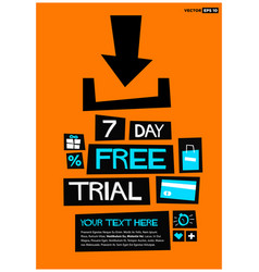 7 day free trial vector image vector image