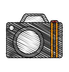 camera travel and tourism symbol vector image