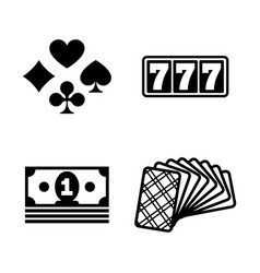 jackpot simple related icons vector image