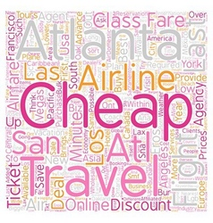 Last minute cheap air ticket text background vector
