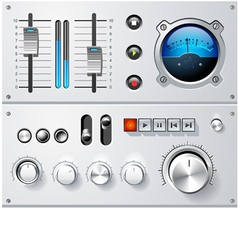 analog controls interface elements set vector image