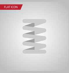 Isolated car spring flat icon crankshaft vector
