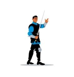 Medieval warrior knight Cartoon vector image