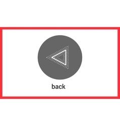 Previous button contour outline vector image vector image