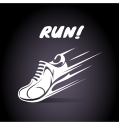 Run poster design vector image