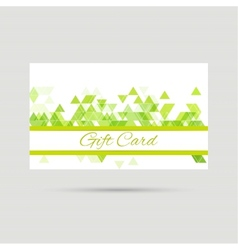 Gift card with a round badge vector image
