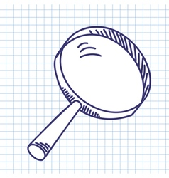 Magnifier glass vector image
