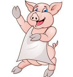 pig wearing apron vector image vector image