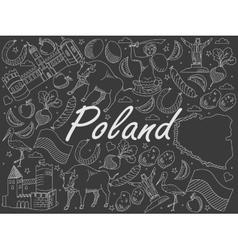 Poland chalk vector image