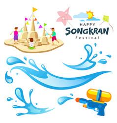 sign songkran festival of thailand vector image