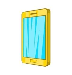 Smartphone icon in cartoon style vector image