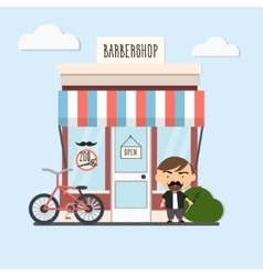 stylish barber character vector image vector image