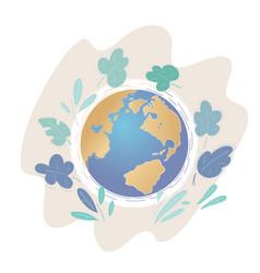 a calm peaceful earth globe view vector image