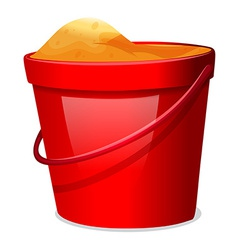 A red pail vector