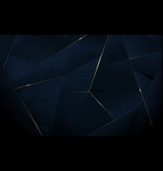 Abstract polygonal pattern luxury background vector