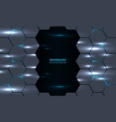 Abstract technology hexagon background vector