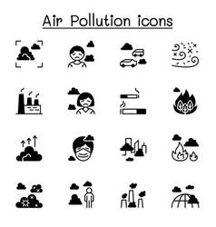 Air pollution virus crisis covid-19 corona virus vector
