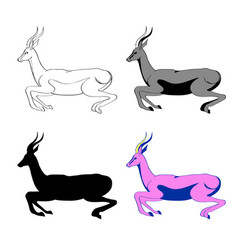 An image an antelope in vector