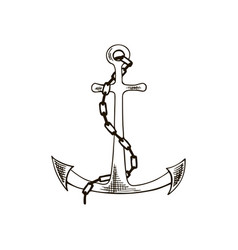 anchor sketch hand drawn vector image