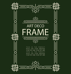Art deco frame template vector