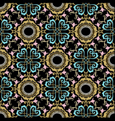 baroque seamless pattern greek style ornamental vector image