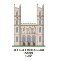 Basilica Montreal vector image