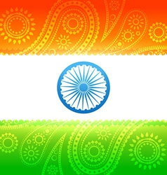 Beautiful indian flag vector