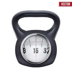 Black weight kettlebell with scale display vector image vector image